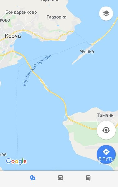 Случилась «зрада»: Крымский мост на картах Google появился спустя двое суток